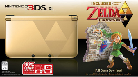 El bundle de Zelda: A Link Between Worlds 3DS XL llegará a América