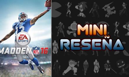 Mini-Reseña Madden NFL 16