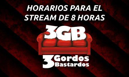 Horarios para el Stream Especial de 8 horas