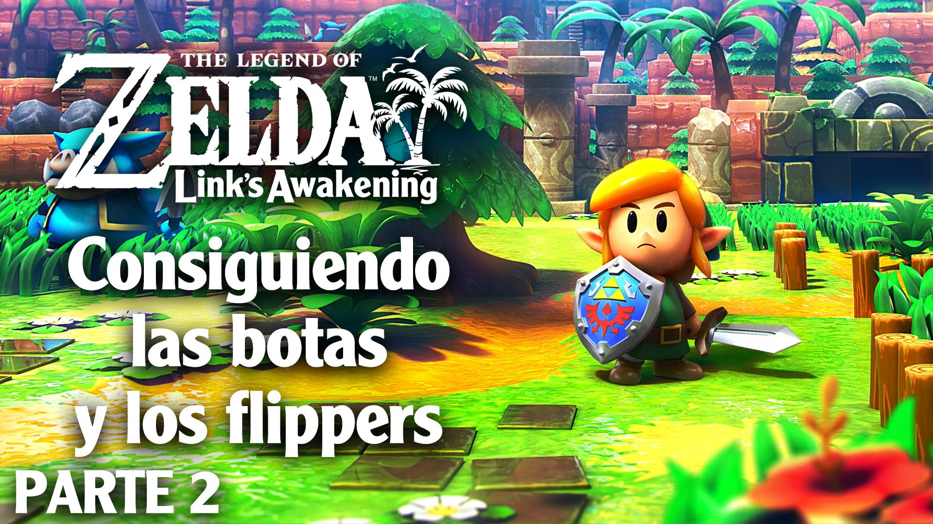 Serie The Legend of Zelda  Link's Awakening #02 – Consiguiendo las botas y los flippers