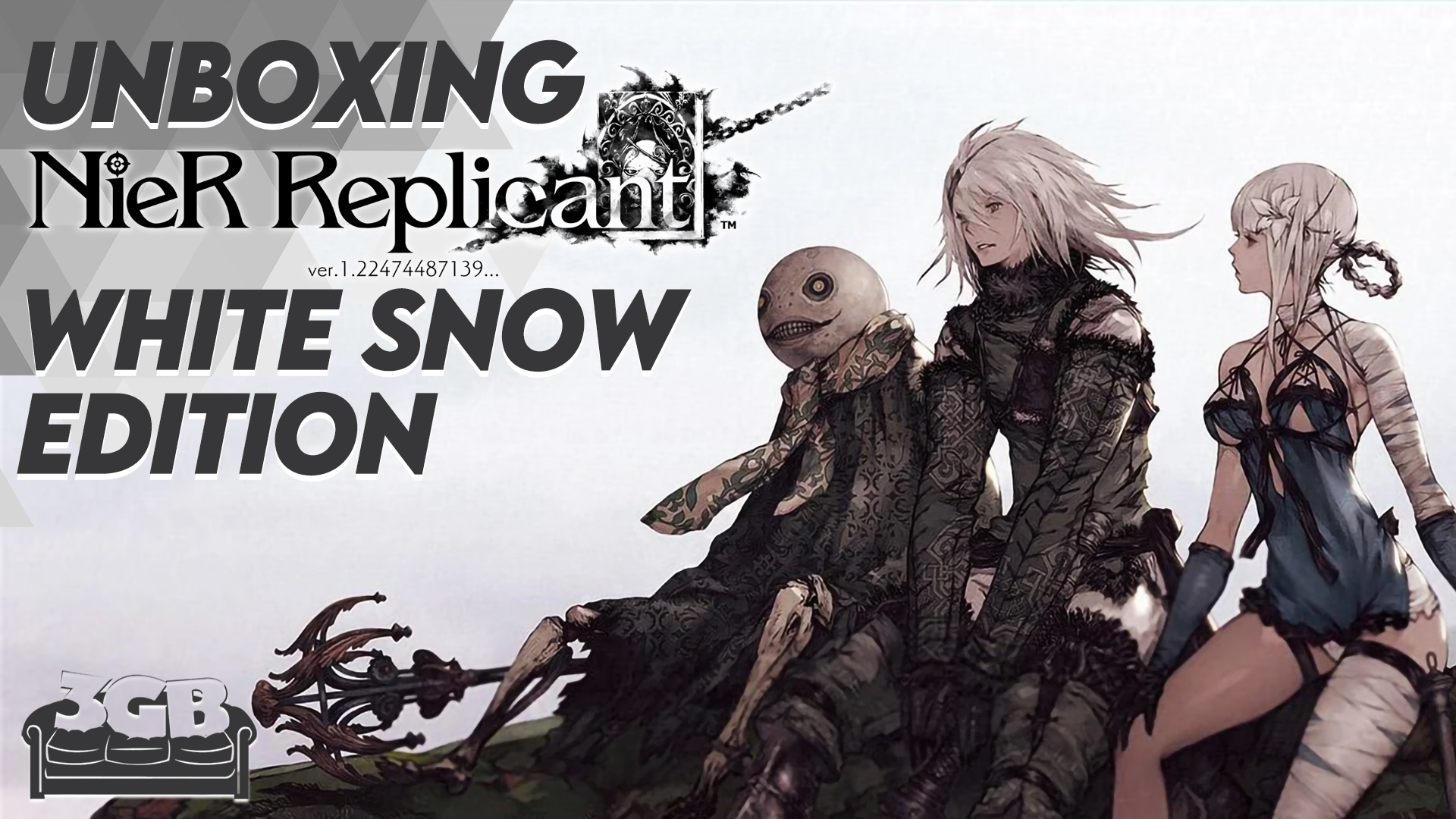 Unboxing NieR Replicant: White Snow Edition